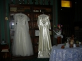 wedding dresses in library