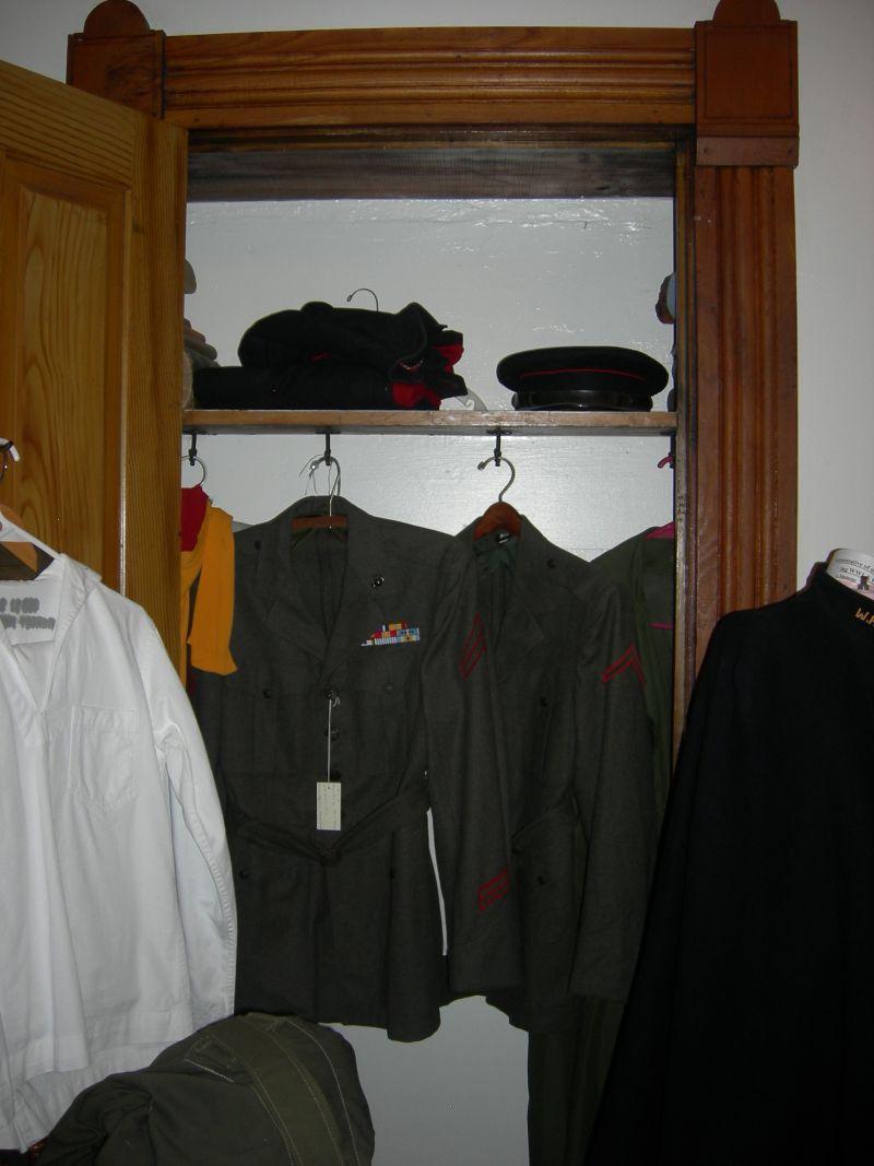 Uniforms In Closet, Johnu0027s Rm